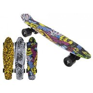 PMS - Skateboard copii longboard model Retro Multicolor 57cm lungime 50kg