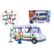 Simba - Set de joaca Autobuzul lui Trevor , Pompierul Sam , Cu figurina, Multicolor