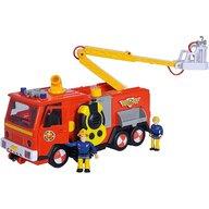 Simba - Masina de pompieri Mega Deluxe Jupiter , Pompierul Sam, Rosu