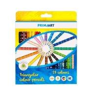 Prima Art - Set creioane Colorate Triangulare, 24 bucati