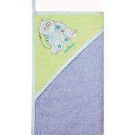 Womar - Prosop de baie cu gluga imprimeu velur 100 x 100 cm, Albastru, Verde