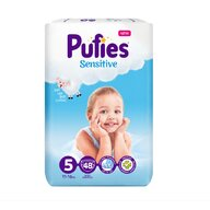 Pufies - Scutece Sensitive, Junior (5), 48 buc.