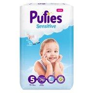 Pufies - Scutece Sensitive, Junior (5), 76 buc.