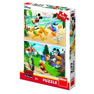 Dino Toys - Puzzle 2 in 1 Mickey campionul 77 piese
