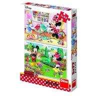 Dino Toys - Puzzle 2 in 1 Minnie la treaba 77 piese