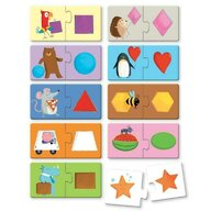 Sassi - Puzzle educativ Forme Cu carte Puzzle Copii, pcs  20