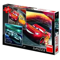 Dino Toys - Puzzle 3 in 1 Cars 3 cursa cea mare 55 piese