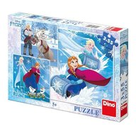 Dino Toys - Puzzle 3 in 1 Frozen (3 x 55 piese)