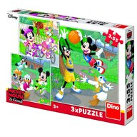Dino Toys - Puzzle 3 in 1 Mickey si Minnie sportivii 55 piese