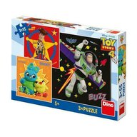 Puzzle personaje Toy Story 4 , Puzzle Copii , 3 x 55 piese, piese 165