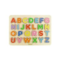 Masterkidz - Puzzle din lemn Alfabet litere mari , Puzzle Copii , 3D, piese 26