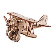 Wooden City - Puzzle 3D Avion , Puzzle Copii , Kit model mecanic, piese 63