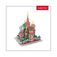 CUBICFUN - Puzzle 3D Catedrala St. Basil Nivel mediu Puzzle Copii, piese 92