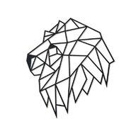 EWA - Puzzle din lemn Lion head , Puzzle Copii , Decorativ 3D, piese 134