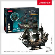 CUBICFUN - Puzzle 3D Nava Queen Anne cu Led Puzzle Copii, piese 293