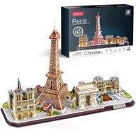 CUBICFUN - Puzzle 3D Paris cu Led Puzzle Copii, piese 115