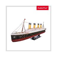 CUBICFUN - Puzzle 3D Titanic cu Led Puzzle Copii, piese 266