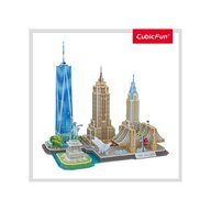 CUBICFUN - Puzzle 3D New york Puzzle Copii, piese 123