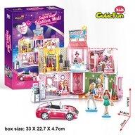 CUBICFUN - Puzzle 3D Mall Cu stickere Puzzle Copii, piese 157