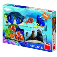 Dino Toys - Puzzle 4 in 1 Dory in marea aventura 54 piese