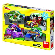 Dino Toys - Puzzle 4 in 1 Mickey Mouse si Minnie la cursa 54 piese