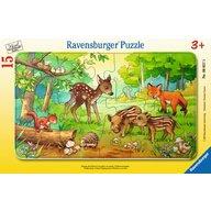 Ravensburger - Puzzle Animale In Padure, 15 Piese