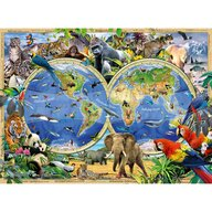 Ravensburger - Puzzle educativ Animalele lumii Puzzle Copii, piese 100