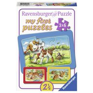 Ravensburger - Puzzle Animalute, 3x6 piese
