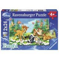 Ravensburger - Puzzle Bambi, 2x24 piese