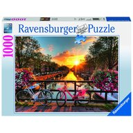 Ravensburger - Puzzle Biciclete in Amsterdam, 1000 piese