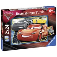 Ravensburger - Puzzle Cars, 2x24 piese