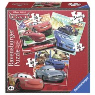 Ravensburger - Puzzle Cars, 3 buc in cutie, 25/36/49 piese