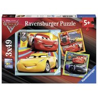 Ravensburger - Puzzle Cars 3x49 piese
