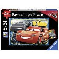 Ravensburger - Puzzle Cars - Pot sa castig! 2x24 piese