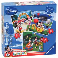 Ravensburger - Puzzle Clubul Mickey Mouse, 3 buc in cutie, 25/36/49 piese