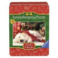 Ravensburger - Puzzle Craciun - Catelus somnoros, 80 piese