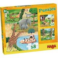 Haba - Puzzle cu animale, 3 modele, 3 ani+