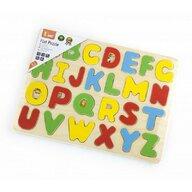 Viga - Puzzle din lemn Litere mari de tipar , Puzzle Copii, piese 26