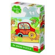 Dino Toys - Puzzle de podea Safari, 24 piese