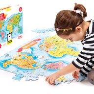 Banana Panda - Puzzle educativ Descopera lumea - Tinerii exploratori 98x68 cm Puzzle Copii, piese 168