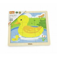 Viga - Puzzle din lemn Ratusca , Puzzle Copii , Cu piese mari, piese 9