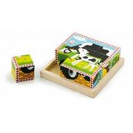 Viga - Puzzle cubic , Puzzle Copii , 6 in 1, piese 9