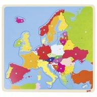 Goki Puzzle din lemn Harta Europei