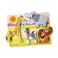 Melissa & Doug - Puzzle din lemn Jumbo Safari