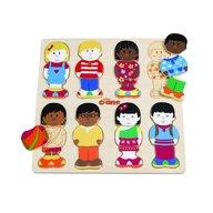 Tidlo - Puzzle din lemn micii prieteni