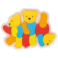 Goki - Puzzle din lemn Trei Ursuleti