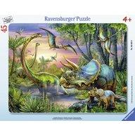 Ravensburger - Puzzle Dinozauri in zori, 45 piese