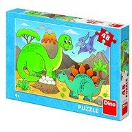Dino Toys - Puzzle Dinozauri prietenosi 48 piese