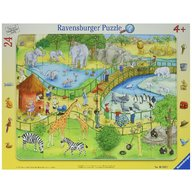 Ravensburger - Puzzle Distractie la zoo, 24 piese