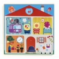 Djeco - Puzzle Swapy, cu piese interschimbabile